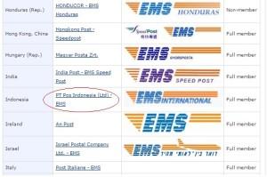 pos indonesia member EMS