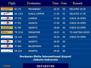 Display Informasi Status Pesawat di Bandara