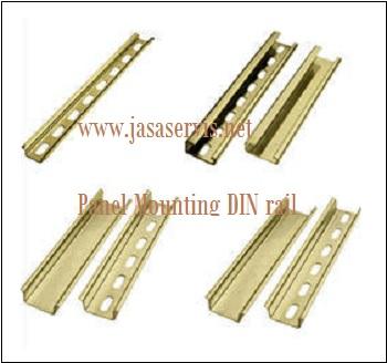 Mounting Rail pada Panel Instrumentasi