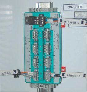 Pemasangan fieldbus spur blok pada DIN rail