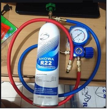 Cara mengisi AC dengan freon showa R22